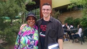 Jewel Hall with Chris Banks, campaign organizer