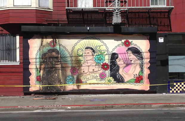 Photo of Mural set on fire, unity needed