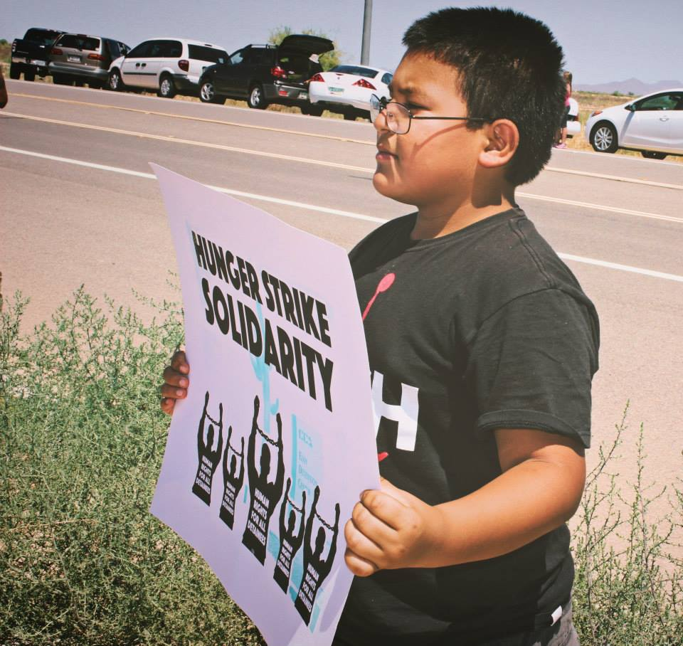 Photo of Immigrants strike against conditions at detention center in Arizona