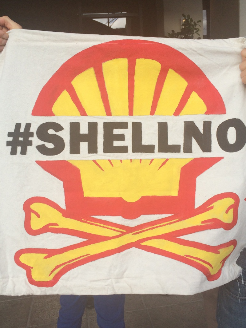 Photo of Seattle protests Shell conference