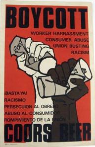 Coors Boycott poster