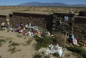 Memorial at West Mesa remembers the lives of the 11 women murdered.