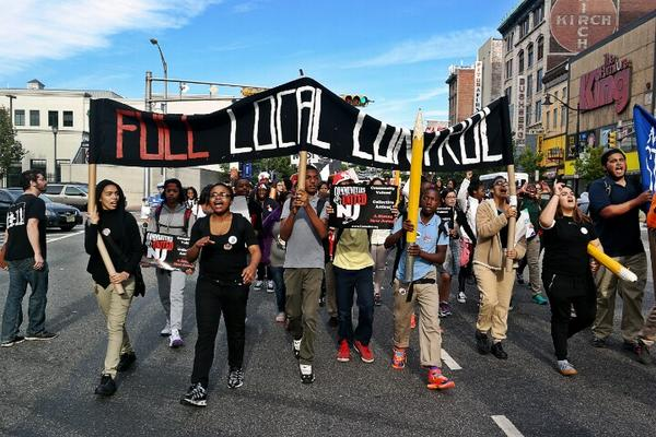 "Photo of ""We are marching on the 25th' – Newark Student Union"