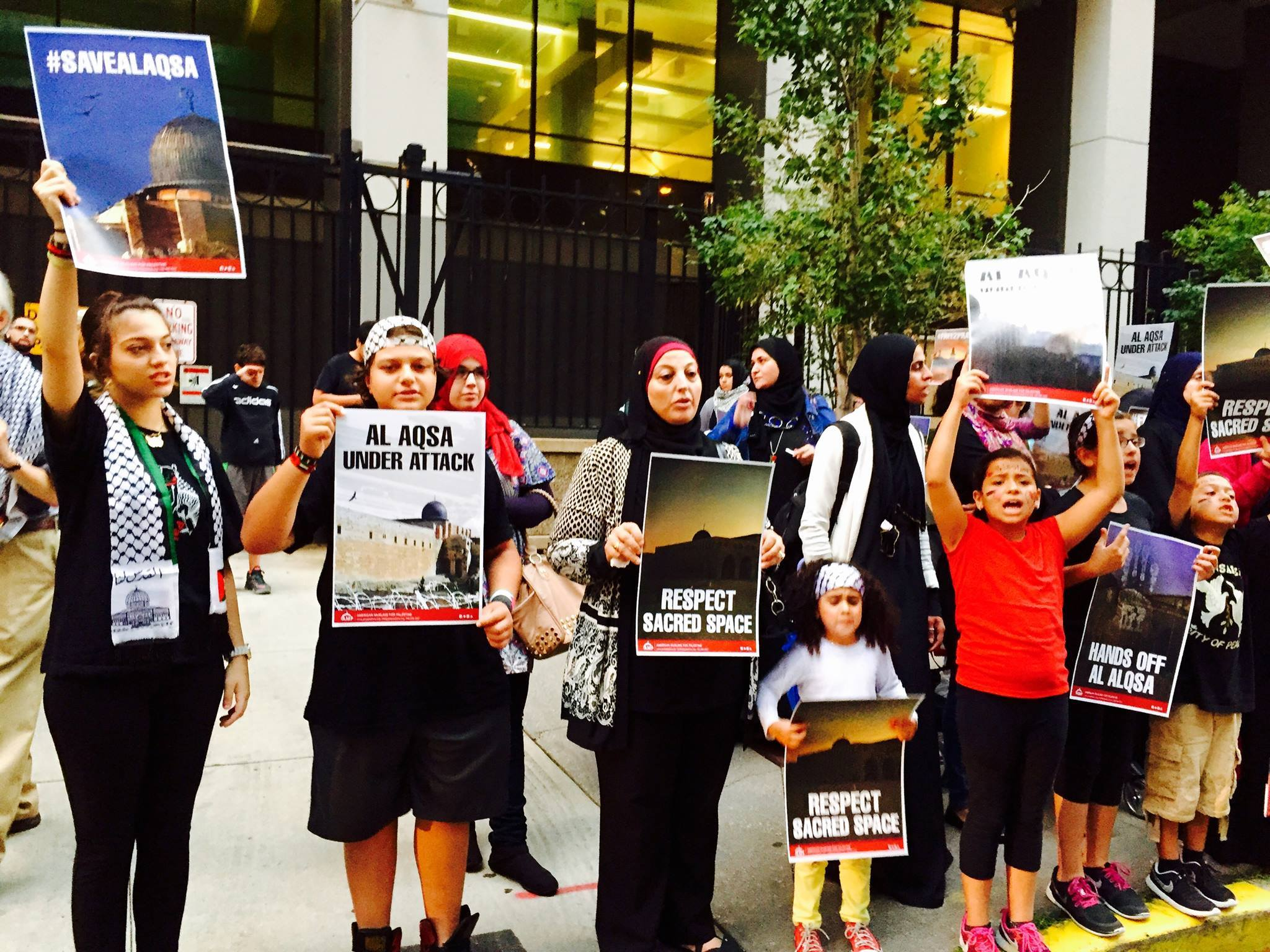 Photo of Chicago says 'Hands off Al-Aqsa!'