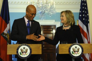 US Secretary of State Hillary Clinton and President-elect of Haiti Michel Martelly