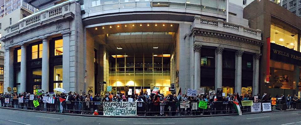 Palestine rises at the Israeli Consulate in San Francisco