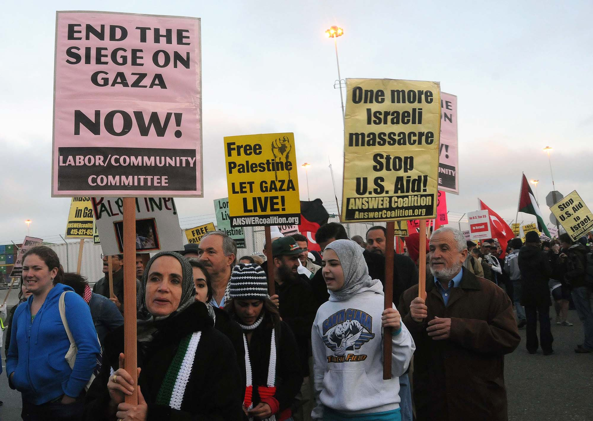 Photo of Protest War Criminal Netanyahu at the White House Nov. 9