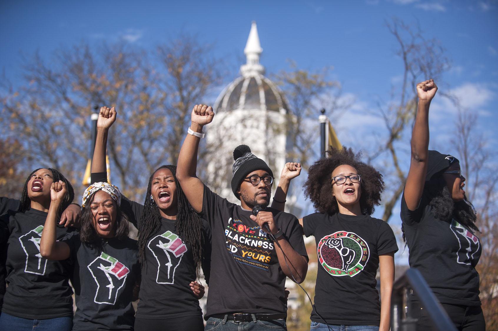 Photo of Missouri anti-racist student struggle inspires