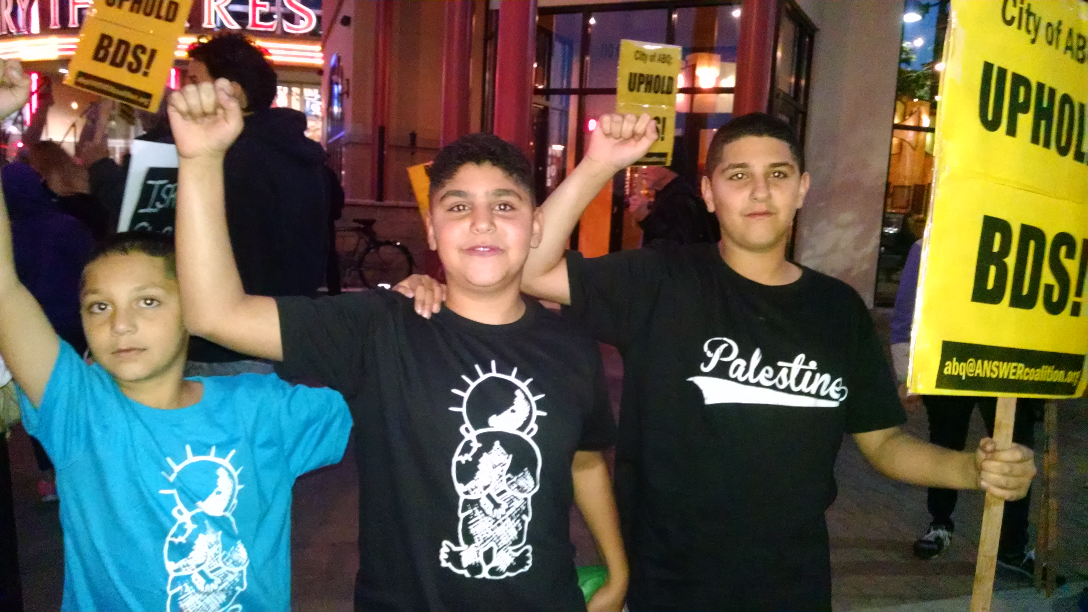 US children and youth speak out against war criminal Netanyahu