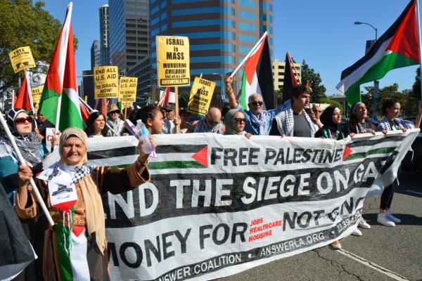 palestine demo LA 110115
