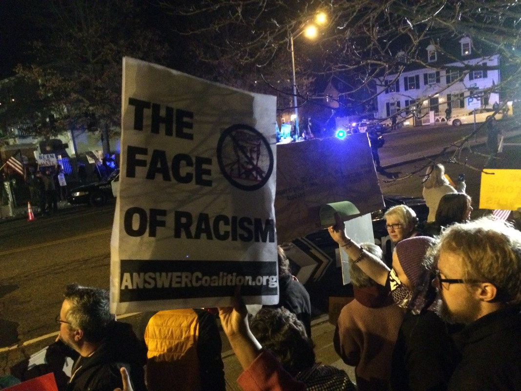 Photo of Portsmouth, NH rally denounces Trump visit