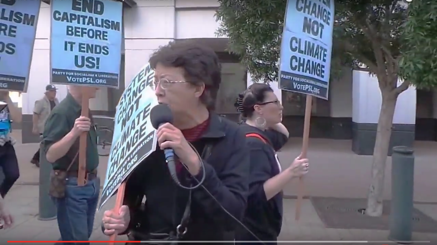 Photo of Video-Gloria La Riva at Climate March in Oakland, Ca.