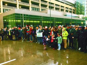 Black Lives Matter at Minn-St. Paul Airport Dec. 23, 2015, credit: Brandon Long