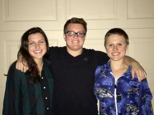 (From left) Jocelyn Kuh, Nate Quinn, and Julie Shoults