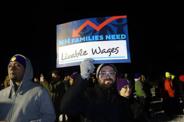NH demands a living wage