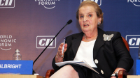 "Albright, a fanatical advocate for genocidal sanctions and bombing campaigns, is in no place to lecture young women on ""feminism."""