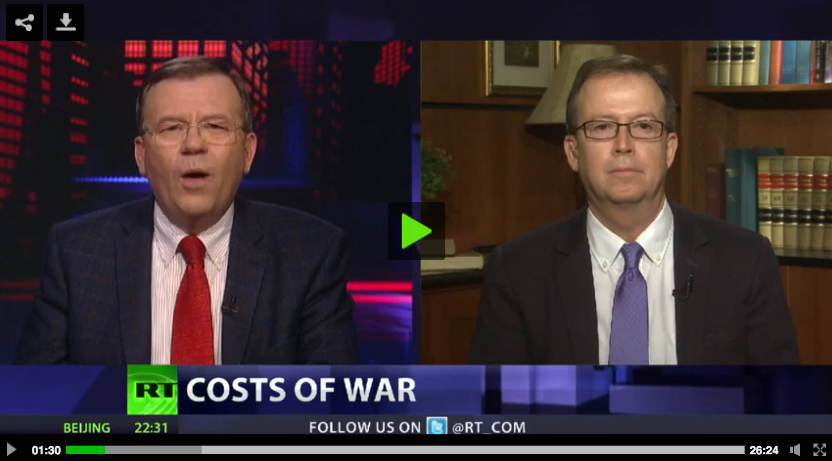 Photo of CrossTalk: Costs of war (Video)
