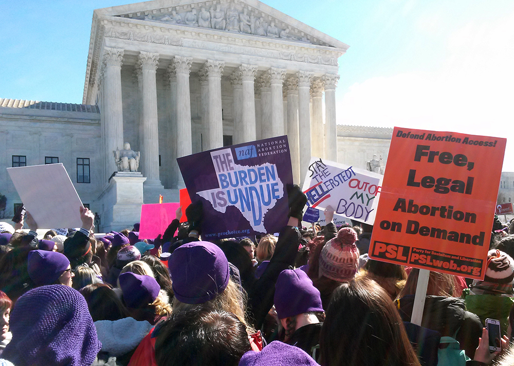 Photo of Outside Supreme Court, mass protest denounces HB2 as sexist sham