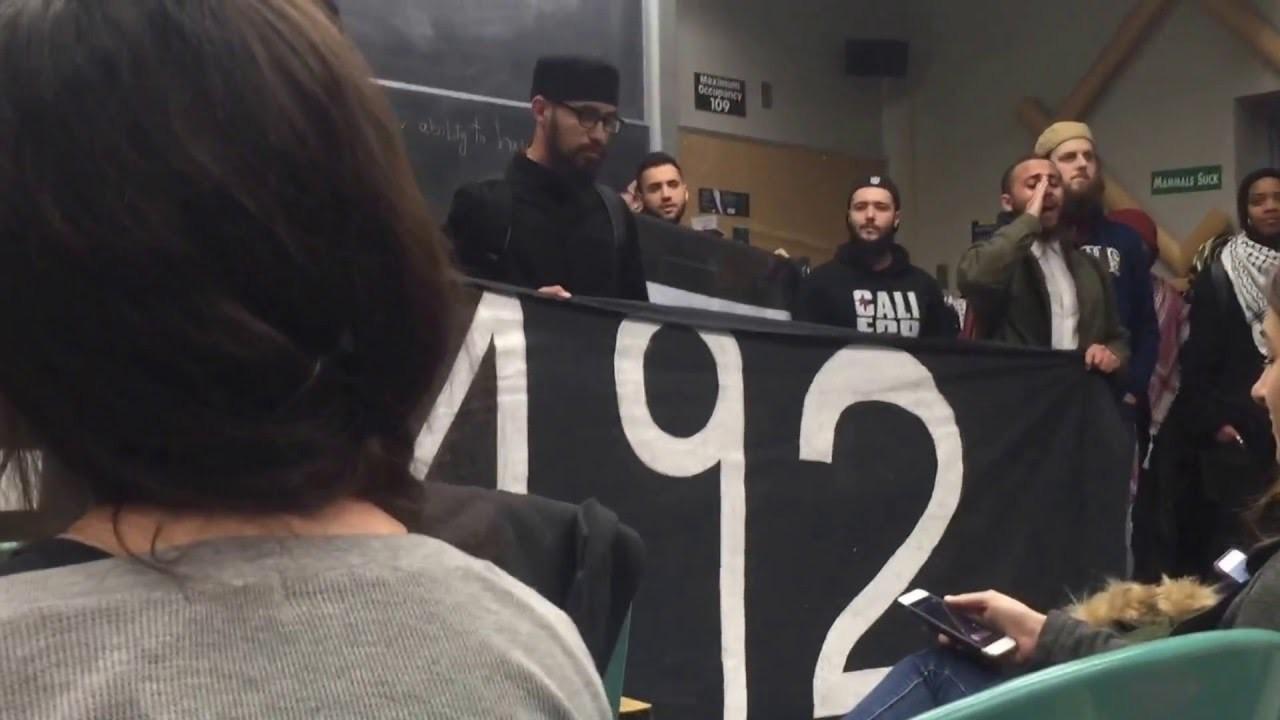 Photo of UC Davis students disrupt visit of Israeli Diplomat