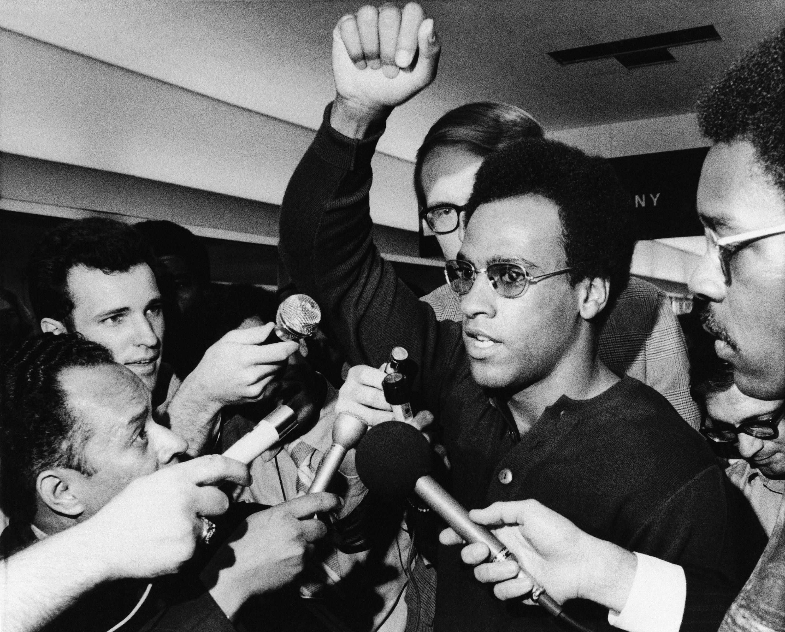 Photo of The Minister of Defense: Dr. Huey P. Newton