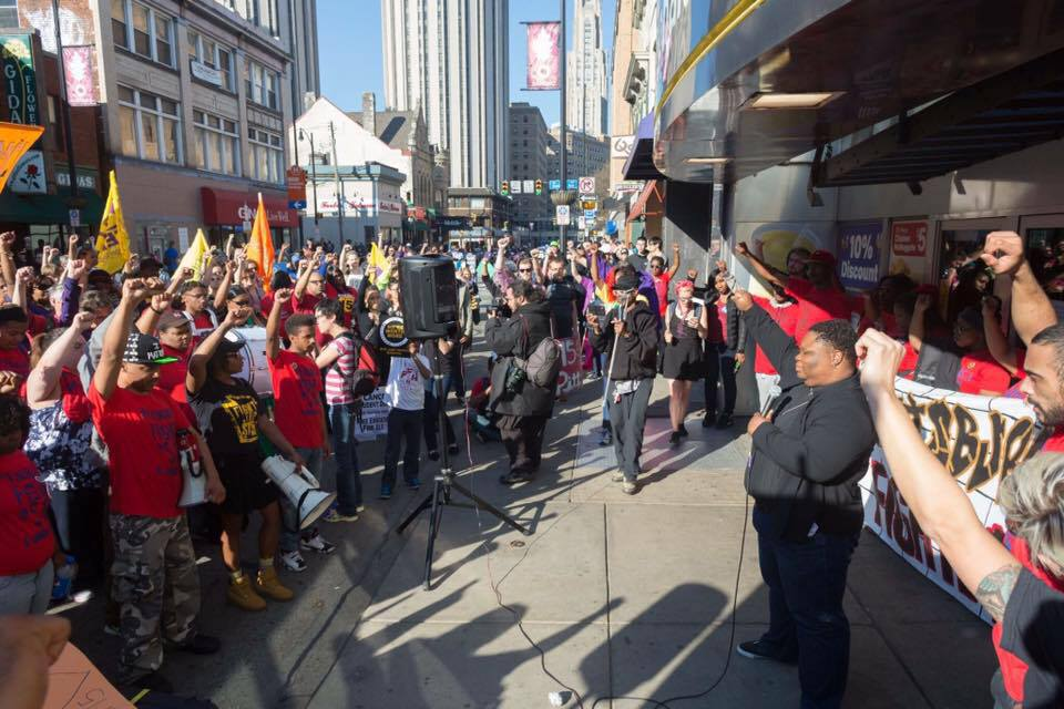 Photo of Pittsburgh workers, students unite struggles on strike day