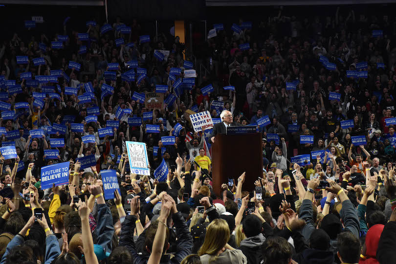 Photo of Bernie Sanders campaign comes to North Philly