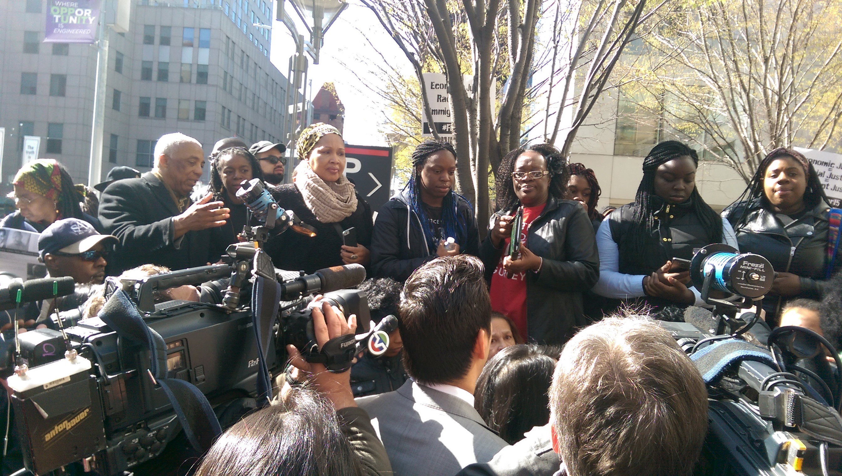 "Photo of Akai Gurley's family: ""We are disgusted with the justice system"""