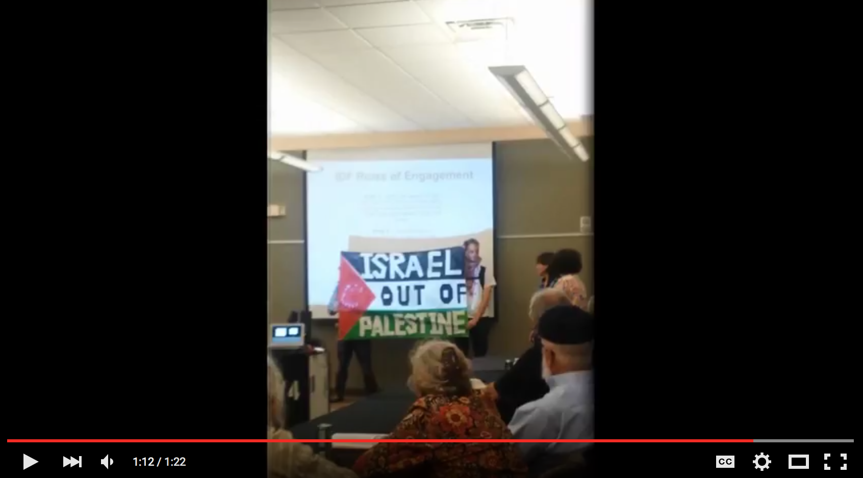 Photo of Abq: Students denounce Israeli soldiers' tour