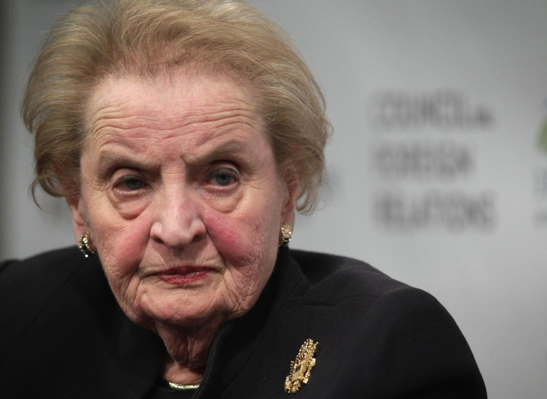Photo of Madeleine Albright visit mocks meaning of ethics