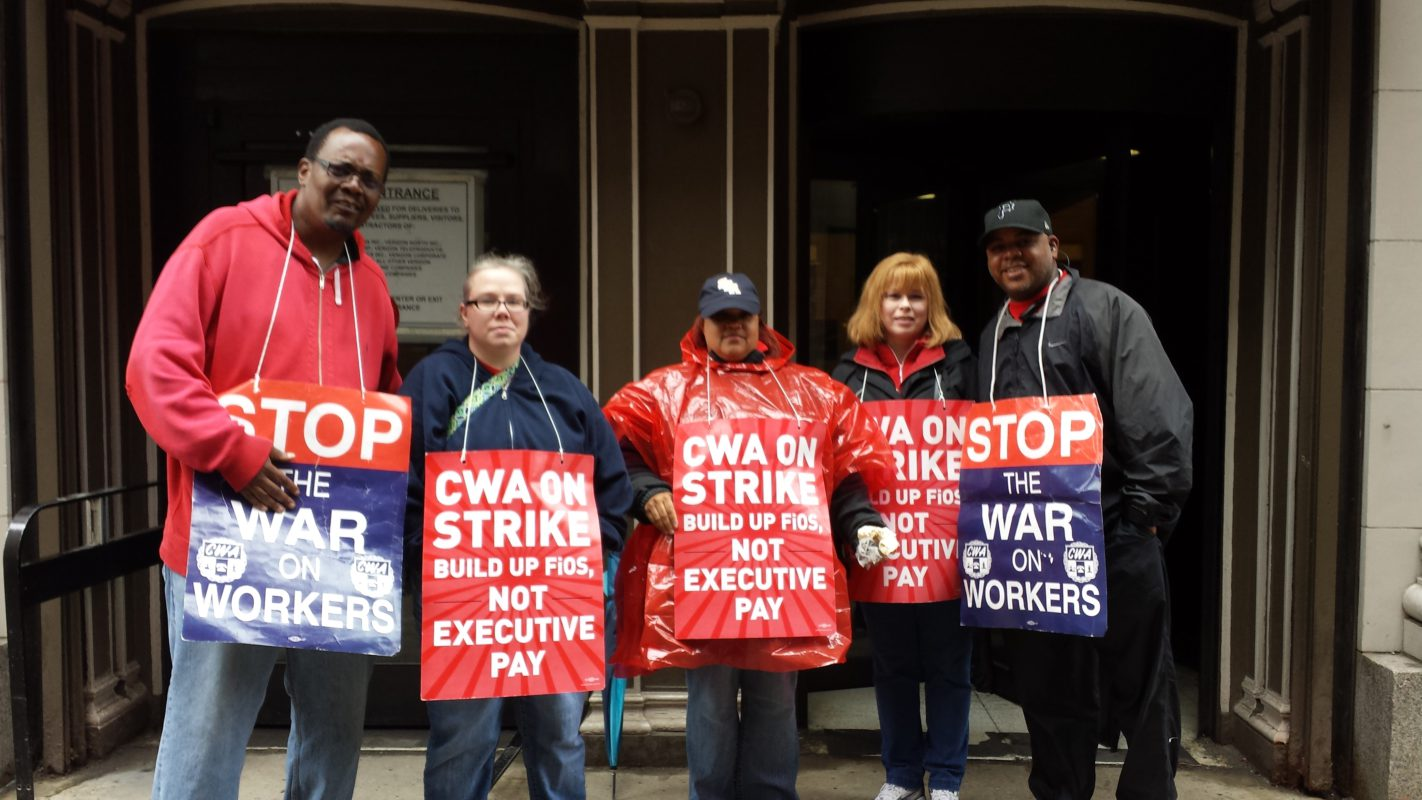 Photo of Interview with striking Verizon workers in Pittsburgh