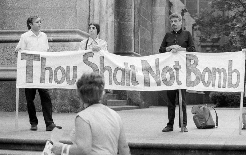 Photo of Daniel Berrigan, a lifelong fighter against imperialist war
