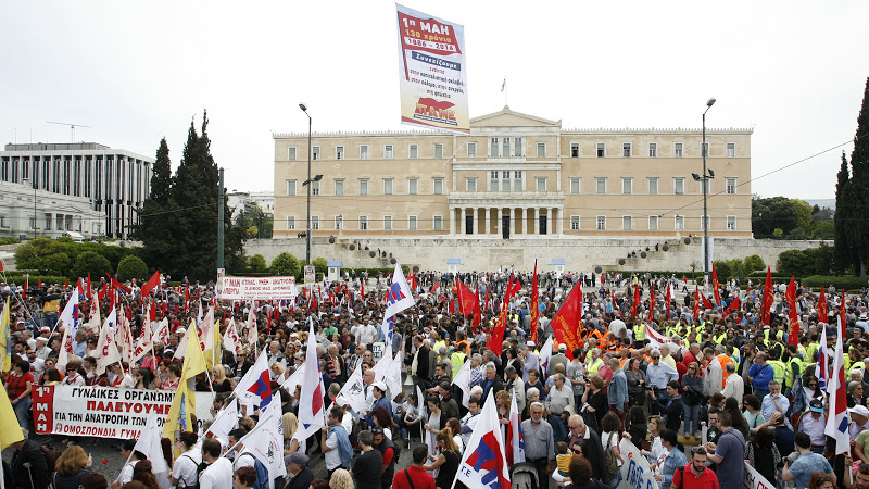 Photo of Greek workers strike against new austerity