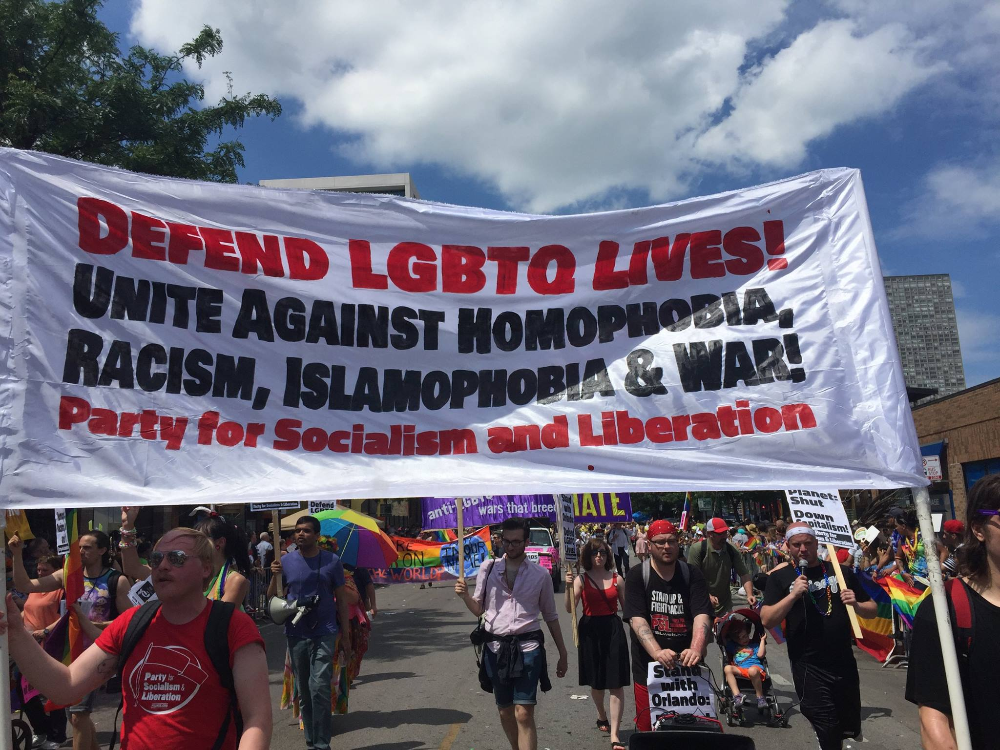 Photo of Chicago 4 Orlando contingent in massive PRIDE parade