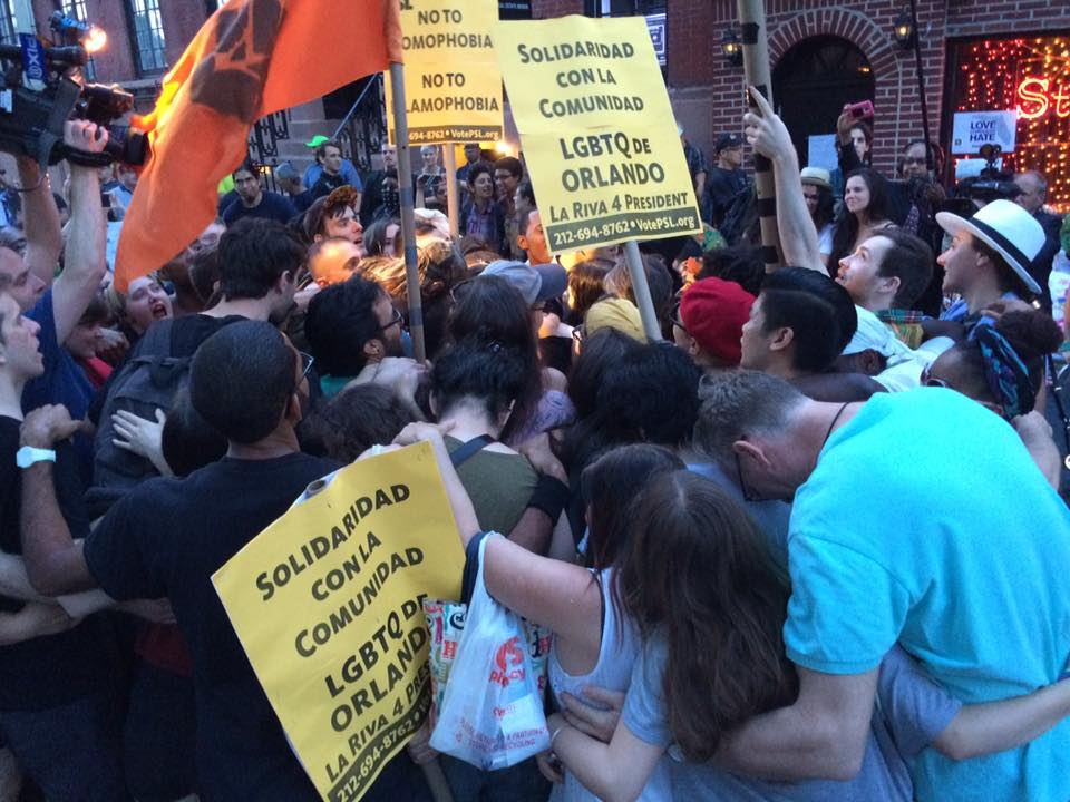 Photo of Orlando solidarity march defies NYPD