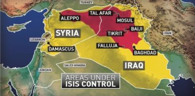 Areas ISIS Captured in June 2014