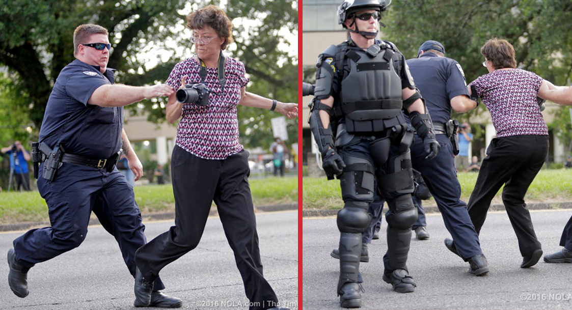 Gloria La Riva, third party candidate, among 100 arrested in Baton Rouge police attack on peaceful protesters