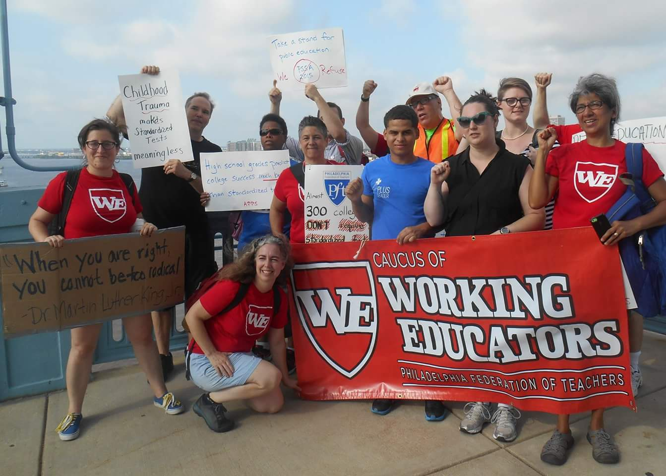 Photo of Philly teacher on charter schools, social justice unionism