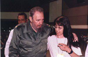 Fidel Castro with PSL presidential candidate Gloria La Riva