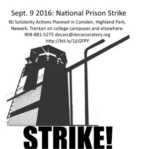 PSL joins Decarcerate NJ and other activists in mobilizing for the 9/9 prison strike