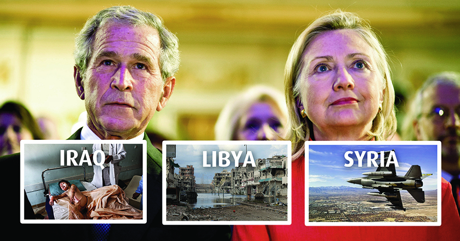 Photo of Clinton has Bush's foreign policy