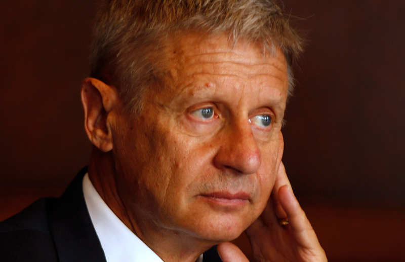 Photo of Gary Johnson and the Libertarian Party: no threat to the system