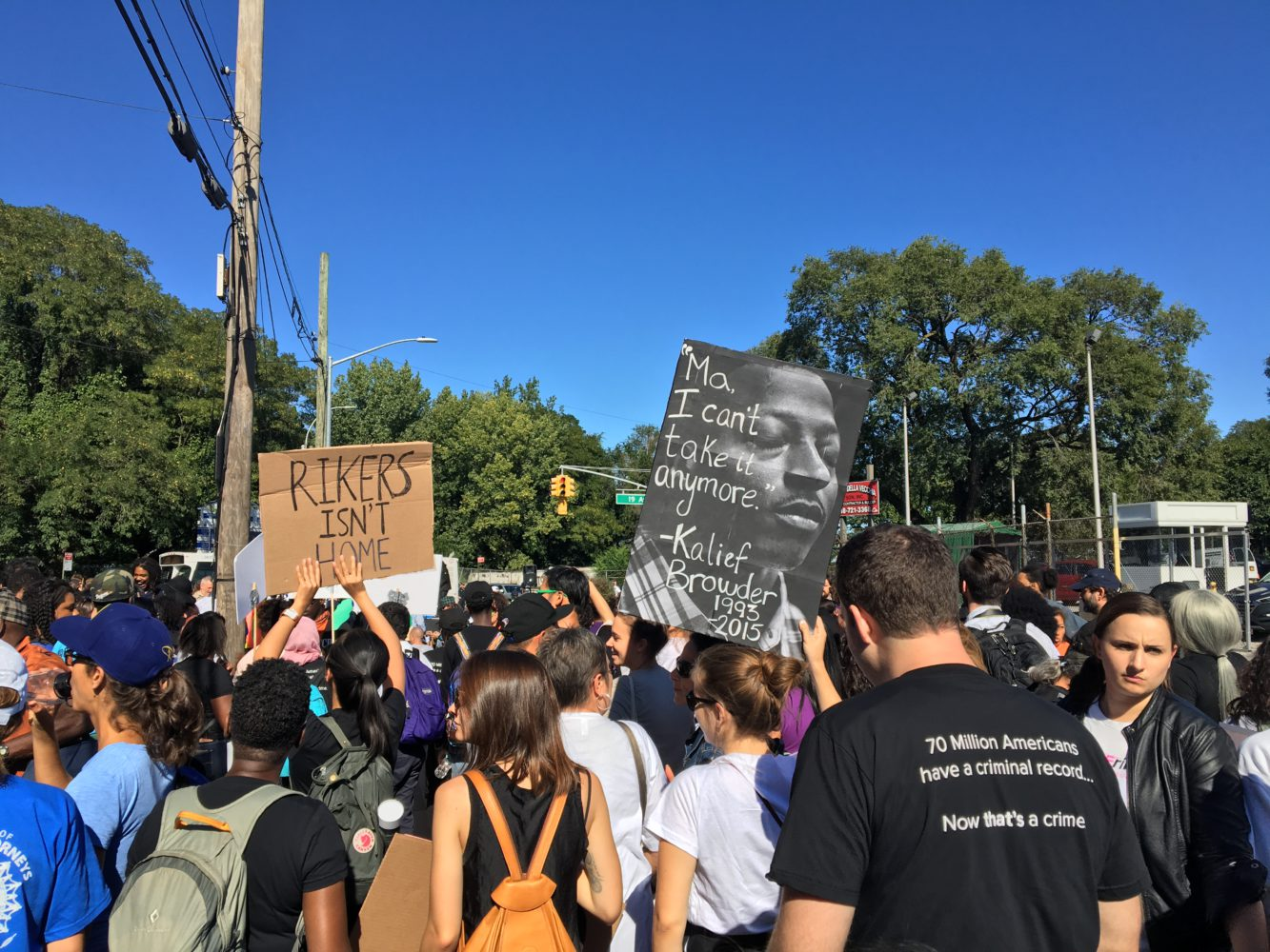 Photo of Protest demands: Close Rikers Island