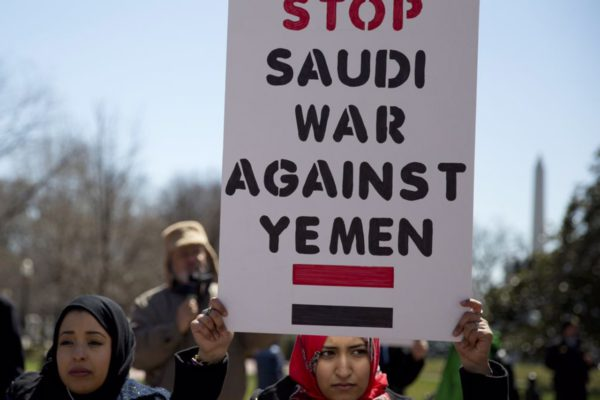 White House Yemen protest