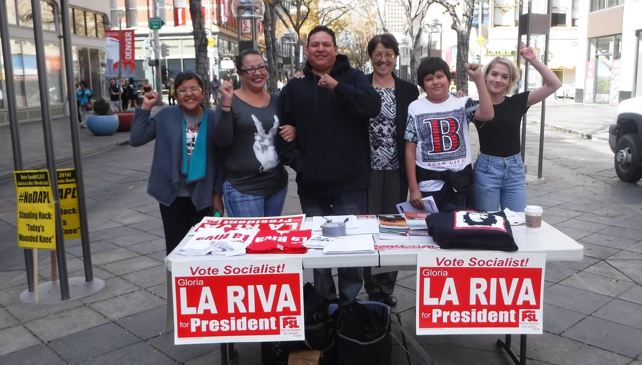 Photo of La Riva campaigns in Colorado