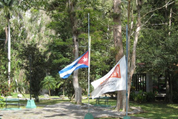 Cuban flag at half mast Credit: Travels with Hellen blog