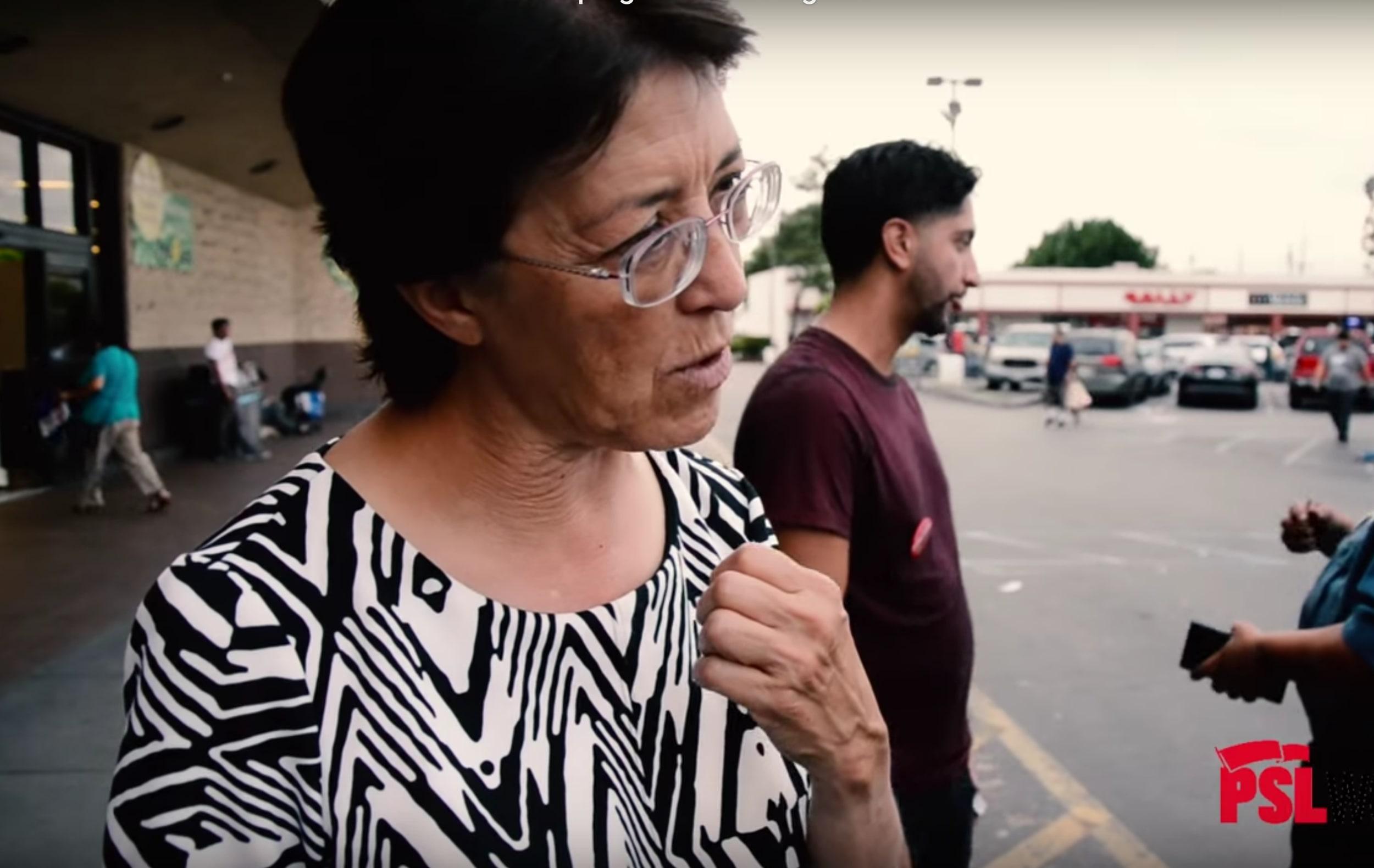 Photo of Video: Presidential Candidate Gloria La Riva Campaigns in Los Angeles