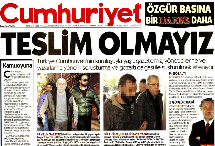 Photo of Journalists arrested as wave of repression continues in Turkey