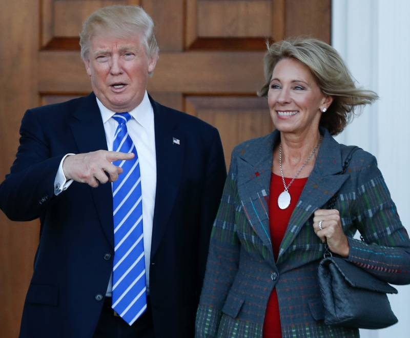 Trump picks right-wing billionaire for secretary of education