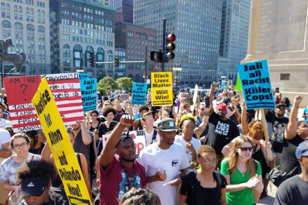 Protest against police killings in Chicago, July 2016