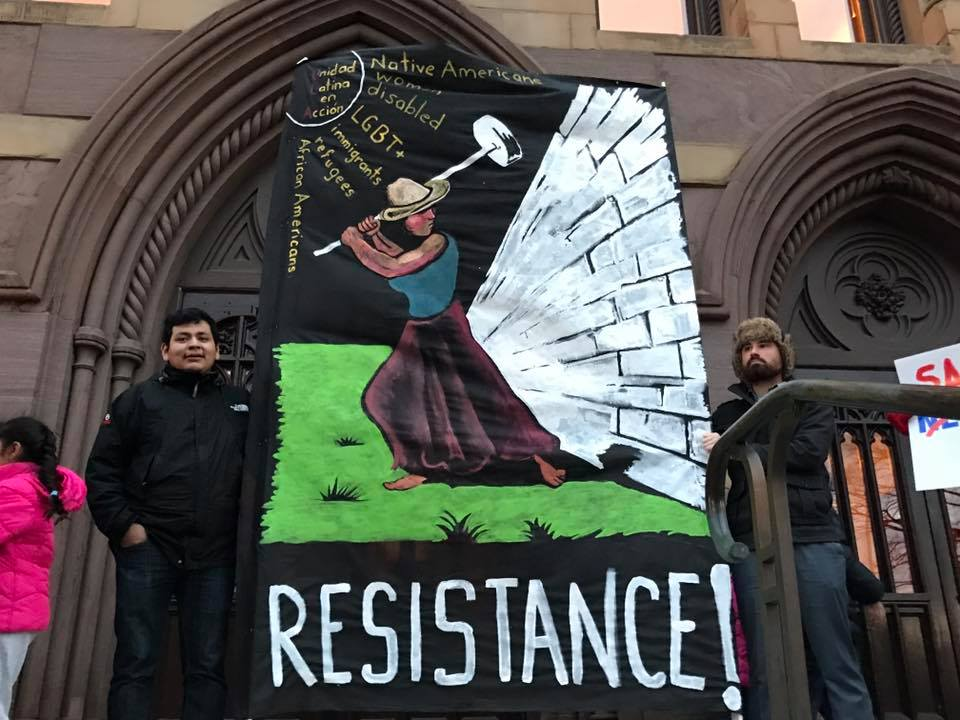 Photo of New Haven stands against Trump, defends immigrants